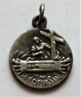 petite médaille  en argent - souvenir du saint sang - bruges
