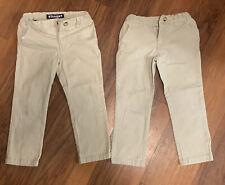 2 French Toast Boys School Uniform Waist Stretch Straight Fit Chino khaki Size 5