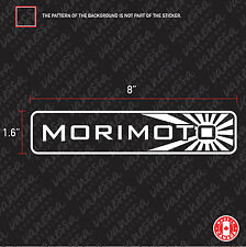 2X MORIMOTO logo sticker vinyl decal