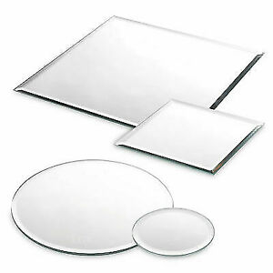 Round / Square Mirror Plates Wedding Table Centrepiece GRADE B PACK OF 6 MIRRORS
