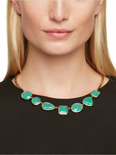 Kate Spade Vegas Jewels FACETS COLLAR Necklace Fremont Turquoise Green SIMPLE