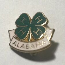 4-H Club Alabama Vintage Lapel Pin Gold Filled