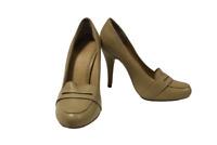 Ladies Brown Leather Jasper Conran Shoes Size 35.5 UK 3 High Heels