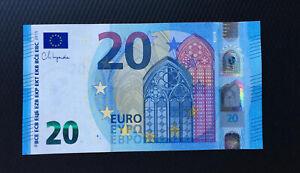 20 euro banknote 2015(2020) UNC P-28E Prefix-EM Slovakia Sign Lagarde NEW