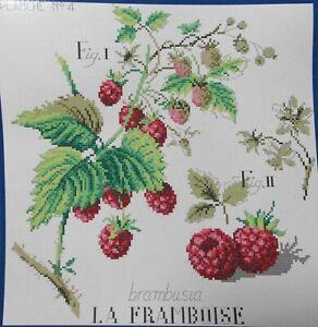 komplette Stickpackung,Point de Croix,Veronique Enginger,Himbeeren,Blüten,Aida
