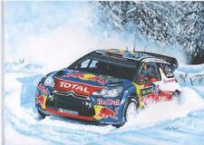 Sebastien Loeb, Rally Sweden art print