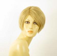 perruque femme 100% cheveux naturel courte blonde ref WITNEY 22