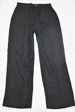 VTG 90s CHIC Banana Republic Urban Black Linen Wide Leg Trousers Pants Slacks 8
