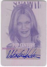 2012 POP CENTURY PRINT PLATE AUTO: NATASHA HENSTRIDGE #1/1 OF ONE AUTOGRAPH LEAF