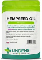 Hemp Seed (hempseed) Oil 1000mg healthy hair, skin & brain (100 capsules) [3725]