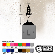 Rocket Launch Light Switch / Wall / Socket - Vinyl Decal Sticker - Any Colour!