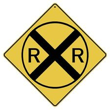 Railroad Crossing Sign NEW 12X12 Metal Train Xing Symbol