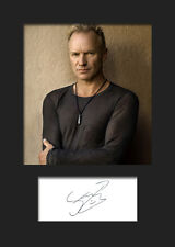STING #1 Signed Photo Print A5 Mounted Photo Print - FREE DELIVERY