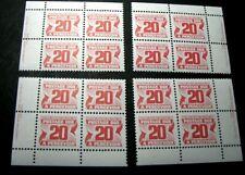 Canada Stamp Scott# J38 Postage Due 1969-78 Marched Blocks MNH H91