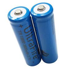 2X 3.7V 18650 3800mah Li-ion Rechargeable Battery for Flashlight Torch Headlamp