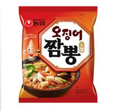 [Nong Shim] Squid Jjambong Ramen Hot Spicy Seafood instant Noodle Food 124g x3ea