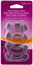 Sculpey Premo! Mini Metal Cutters Polymer Clay Shapes 12 Designs Geometric