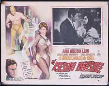 L624 El Asesino Invisible, original 1965 Mexican Lobby card, Ana Bertha Lepe