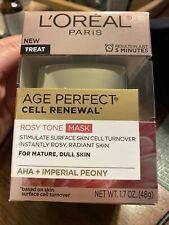 New L'Oréal Paris Age Perfect Cell Renewal Rosy Tone Mask Aha + Imperial Peony