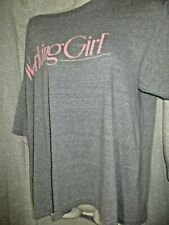 VINTAGE 80'S MOVIE WORKING GIRL T SHIRT GRAY PINK MELANIE GRIFFITH HARRISON FORD