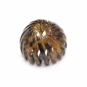 Women Bird Nest Ball Hair Claw Plastic Resin Hairpin Ponytail Curler Hair Ring