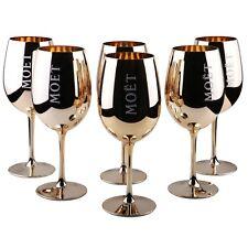 6x Moët & Chandon Imperial verres verre gold champagne Golden Brillance brillent