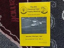 1987 Oulton Park 25/4/87 programa-Jaguar controladores Club Cheshire Gatos Reunión