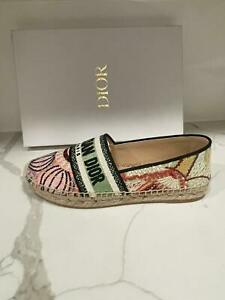 DIOR Granville In Lights Embroidered Flat Espadrille Shoes $790
