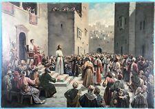 Pinturas Jesucristo ante Poncio Pilato sentencia sacerdote judíos jerusalén ~ 1900