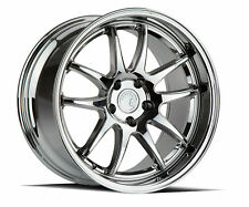 18x9.5/18x10.5 Aodhan DS02 5x114.3 +22 Vacuum Chrome Rims Fits G37 Coupe 350z