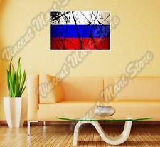 "Russia Country Flag Grunge Retro Wall Sticker Room Interior Decor 20""X25"""