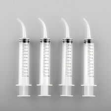 Monoject Type 4pcs 12cc Syringes Curved Tip standard silicone tube vet