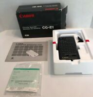 Vintage Canon CG-E1 Character Generator for Camcorder w/ Original Box (rare)!!