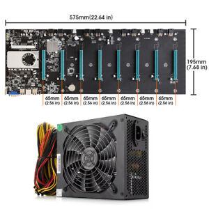 BTC-S37 Mining Machine Motherboard CPU Set 8 PCIE 16X Graphics Card SODIMM