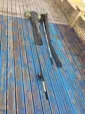 Carp fishing items, Rod, landing net and landing mat + extra tips
