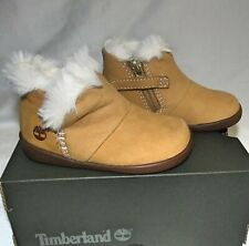 New Timberland Tree Sprout Fur Bootie Boots Wheat Toddler Boys Girls Size 5 M