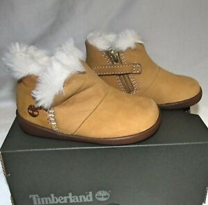 New Timberland Tree Sprout Fur Bootie Boots Wheat Toddler Boys Girls Size 4 M