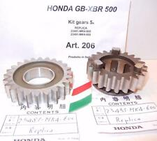 Honda XBR GB500 5th NEW replacement gears 23481-MK4-600 + 23491-MK4-600 kit #206