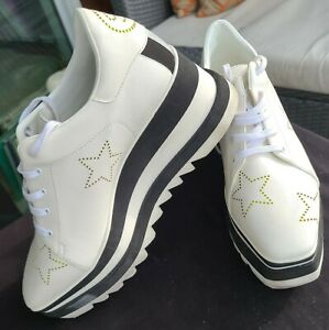 Stella McCartney Elyse Platform Shoes 40 7.5 White
