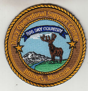NAVY OPERATIONAL SUPPORT CENTER BILLINGS, MONTANA PATCH