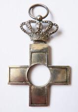 Croix en argent massif décoration Espagne 19e siècle silver cross couronne