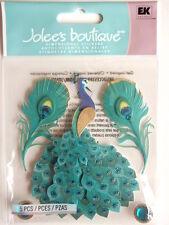 Jolee's Boutique Pegatinas-Pavo Real