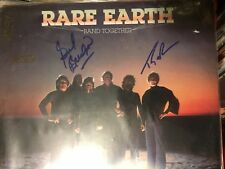 RARE EARTH  hand signed record album autographed Motown's unique band together