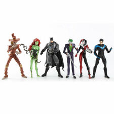 "6Pcs DC Comic Batman Joker Harley Quinn Nightwing Poison Ivy 6""Action Figure/Toy"