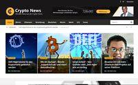 Krypto-Newsportal Premium | Geld verdienen mit Adsense | Autopilot | Webprojekt