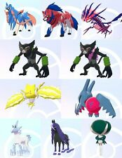 Non/Ultra Shiny** 6IV EV Trained 8th Gen Legendary/Mythical Pokemon Sword/Shield