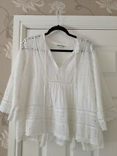 Whistles white brocade top size large 12-14