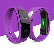 Blood Pressure/Heart Rate Monitor Fitness Smart Watch Bracelet Wrist Band Purple