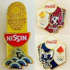 Collection 3 pcs Coca Cola  / Nissin Tokyo 2020 Olympic pins