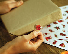 180 POINSETTIA CHRISTMAS WRAP FIXERS - ASSORTED DESIGNS & SIZES - BRAND NEW
